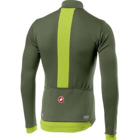 Castelli Fondo Full-Zip LS Jersey Men military green/yellow fluo